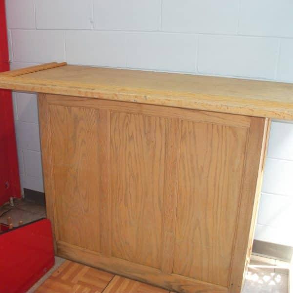 5' oak bar